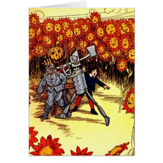 antique Land of  Oz Tin Woodman Scarecrow Cards