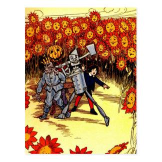 antique Land of  Oz Tin Woodman Scarecrow Postcard