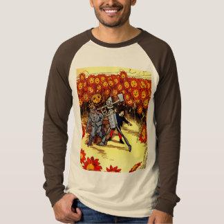 antique Land of  Oz Tin Woodman Scarecrow Tee Shirt