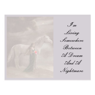 Antique Lavender Dream Nightmare Horse Postcard PC