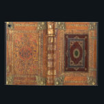 """Antique Leather And Brass Bound Book Cover<br><div class=""""desc"""">This design has been created from a highly decorative sixteenth century worn leather book cover with brass fittings.  The ancient pigments used to decorate the engravings have dulled but left intact to preserve the characteristics of age of this hundreds of years old book cover.</div>"""