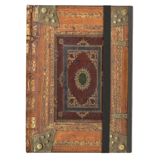Vintage Book Cover For Ipad : Antique leather and brass bound book cover ipad air covers
