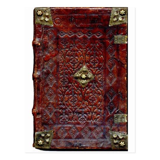 Antique Leather Book Bibliophile Postcard
