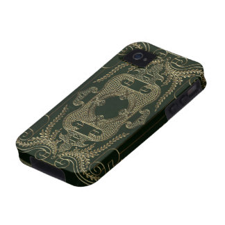 Antique Leather Book binding Vibe iPhone 4 Case