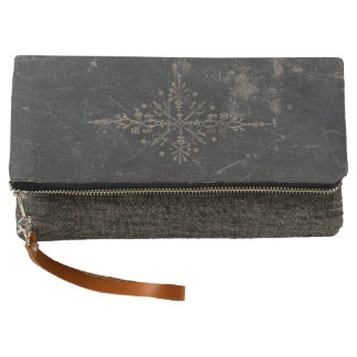 Antique Leather Book Gold Leaf Clutch