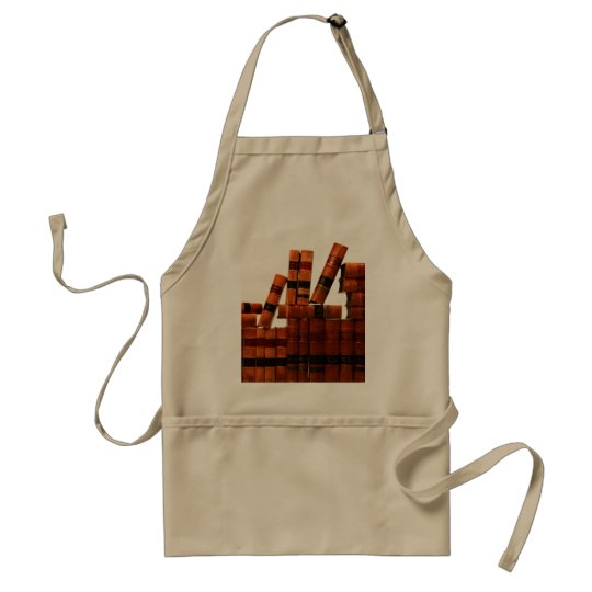 Antique Leather Books Adult Apron