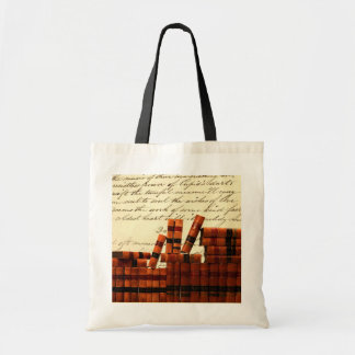 Antique Leather Books Budget Tote Bag