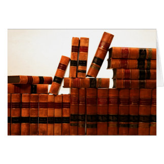 Antique Leather Books Greeting Cards