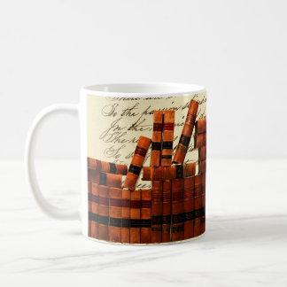 Antique Leather Books Coffee Mug