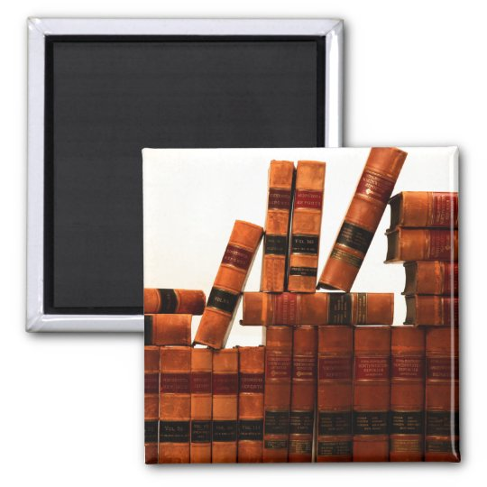 Antique Leather Books Magnet