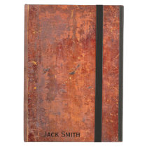 Antique leather bound book cover