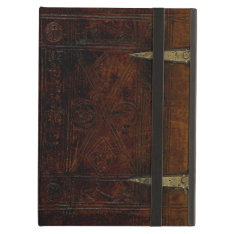 Antique Leather Bound Engraved Book Cover at Zazzle