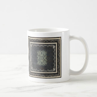 Antique Leather Elegant Scrolls Coffee Mug