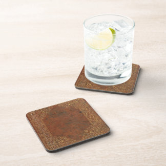 Antique Leather look Beverage Coasters