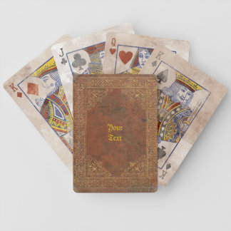 Antique Leather look Bicycle Playing Cards