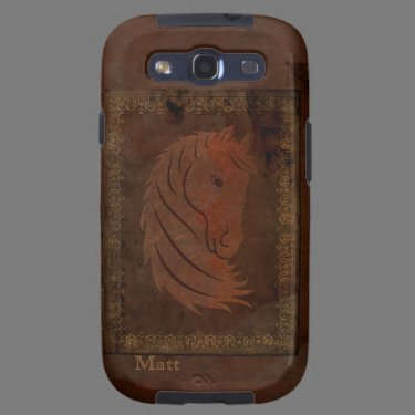 Antique Leather Look Horse Galaxy S3 Case