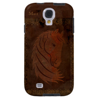 Antique Leather Look Horse Galaxy S4 Case