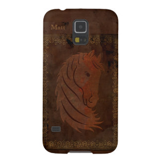 Antique Leather Look Horse Galaxy S5 Case