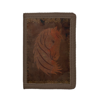 Antique Leather Look Horse Wallet