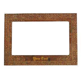 Antique Leather look Magnetic Picture Frame