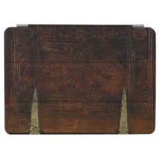 Antique Leather With Brass Locks Ipad Air Cover at Zazzle