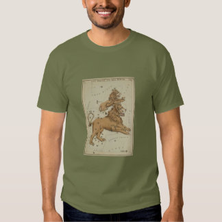 Antique LEO Constellation Map Astronomy Design Tee Shirts