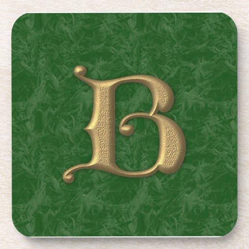 Antique Letter B Beverage Coasters