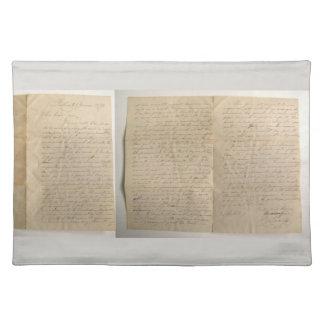 Antique Letter Placemat
