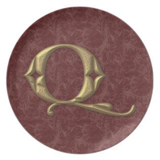 Antique Letter Q (2) Plates