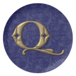 Antique Letter Q (3) Plate