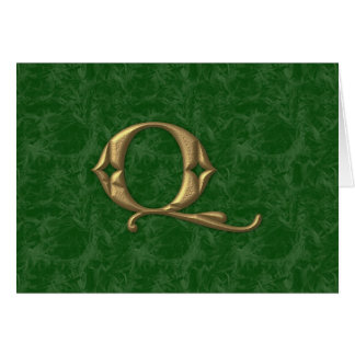 Antique Letter Q Greeting Card