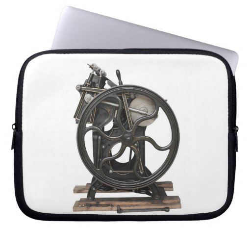 antique letterpress from 1901 laptop sleeve