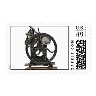 antique letterpress from 1901 postage stamp
