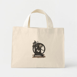antique letterpress from 1901 tiny tote bag