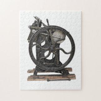 antique letterpress jigsaw puzzle
