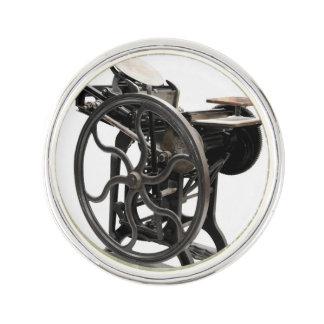 Antique letterpress machine from 1888 lapel pin
