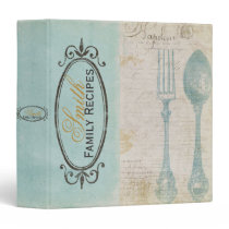 Antique Letters Recipe Binder