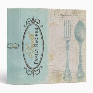 Antique Letters Recipe Binder
