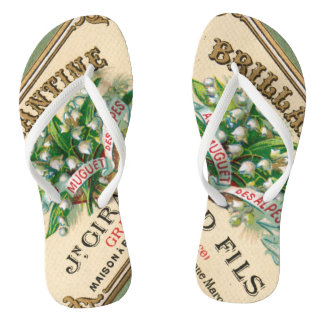 Antique Lily of the Valley French Perfume Flip Flops