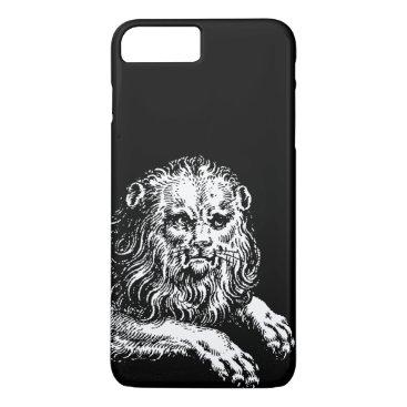antiqueimages Antique Lion Engraving iPhone 7 Plus Case