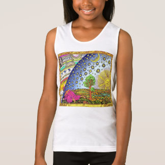 Antique lithograph brightly colored Biblical World Tank Top
