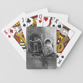 Antique Locks Black & White Photography Playing Cards