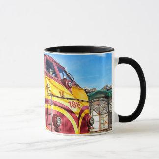 Antique Locomotive Steam Engine Train Coffee Cup