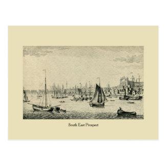 Antique London South East Prospect (Thames) Postcard