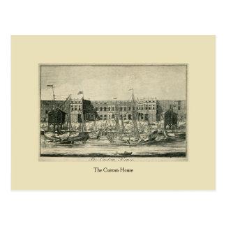 Antique London The Custom House Postcard