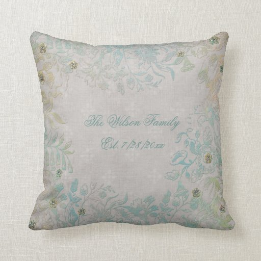 Antique Look Floral Family Throw Pillow Zazzle