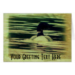 Antique Look Loon on The Water Card
