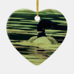Antique Look Loon on The Water Ornament