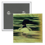 Antique Look Loon on The Water Pin