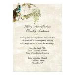 Antique Look Peafowl Wedding Invitation
